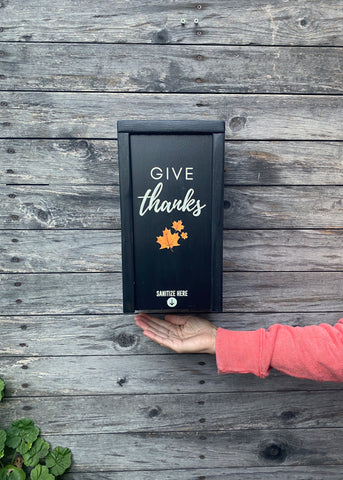 """Give Thanks"" SanBox: Hand Sanitizer Cover"