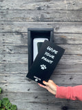 """Wipe Your Paws"" SanBox: Hand Sanitizer Cover"
