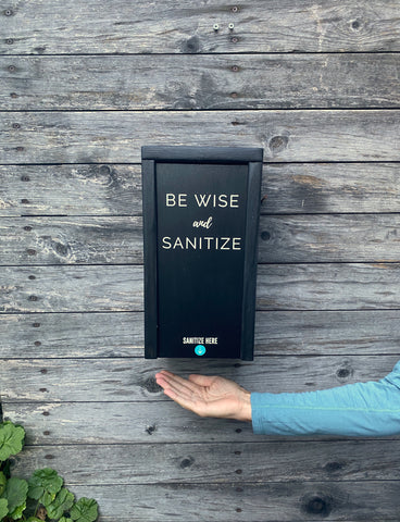 """Be Wise and Sanitize"" SanBox: Hand Sanitizer Cover"
