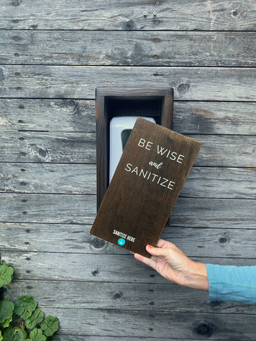 """Be Wise and Sanitize"" Interchangeable SanSlide"