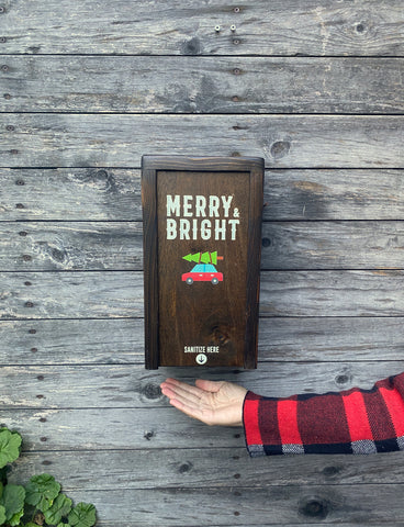 """Merry and Bright"" SanBox: Hand Sanitizer Cover"