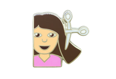 Girl Haircut Pin