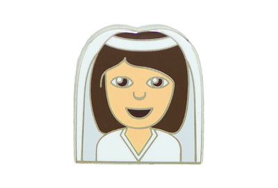 Bride Girl Pin