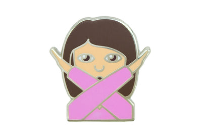 Hands Crossed Girl Pin