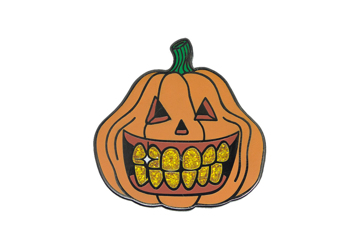 Pumpkin with Gold Grillz