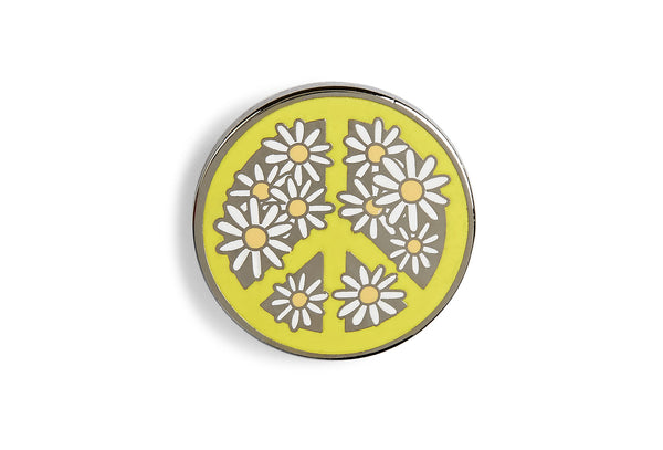 Flower Power Peace Pin