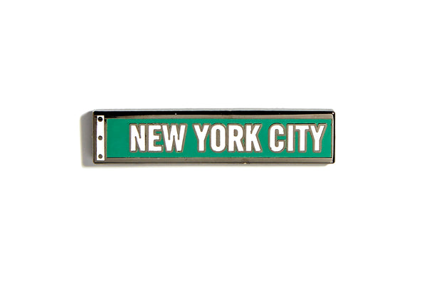 New York City Street Sign Pin