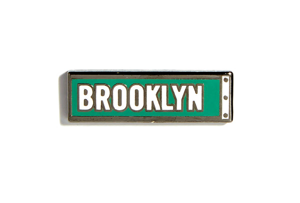 Brooklyn Street Sign Pin