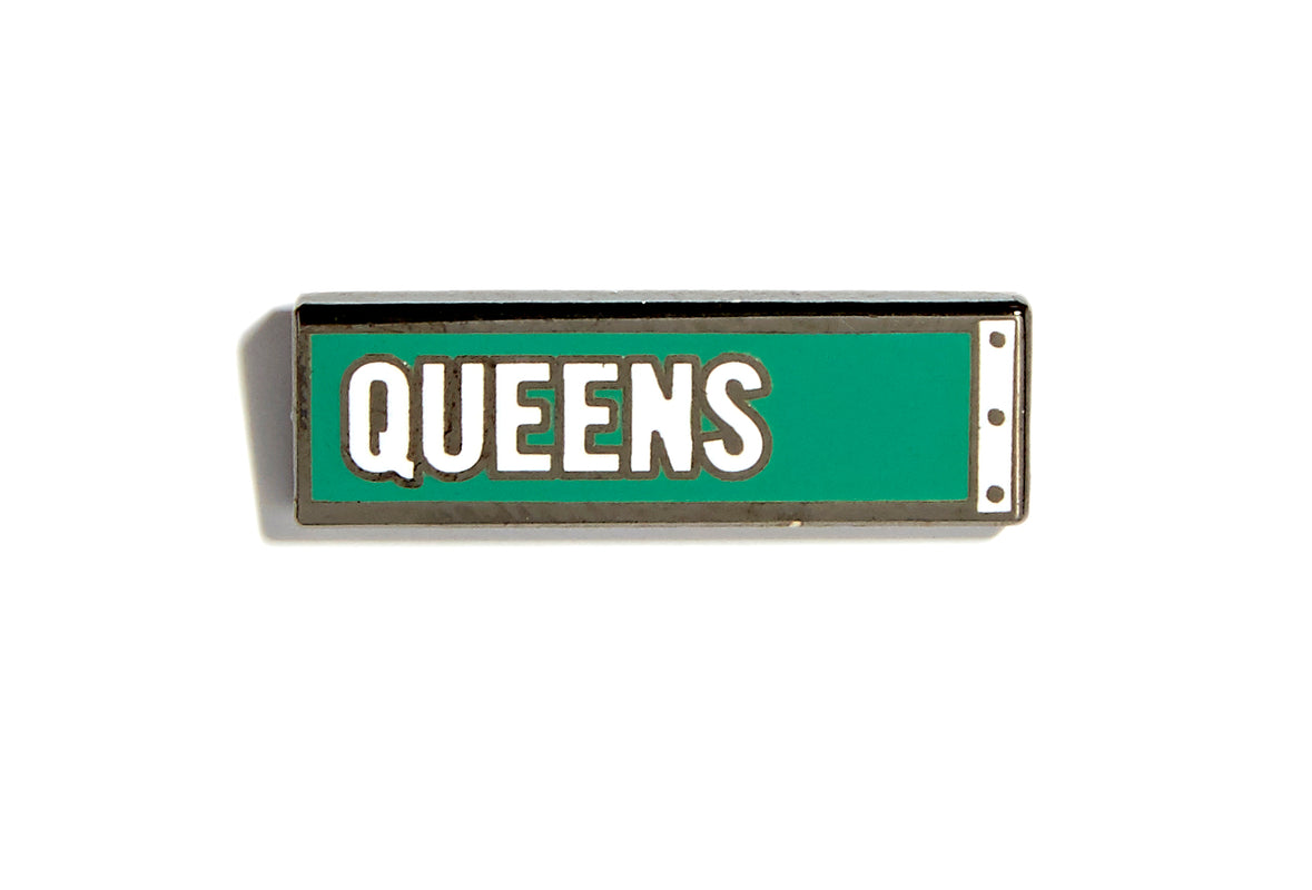 Queens Street Sign Pin