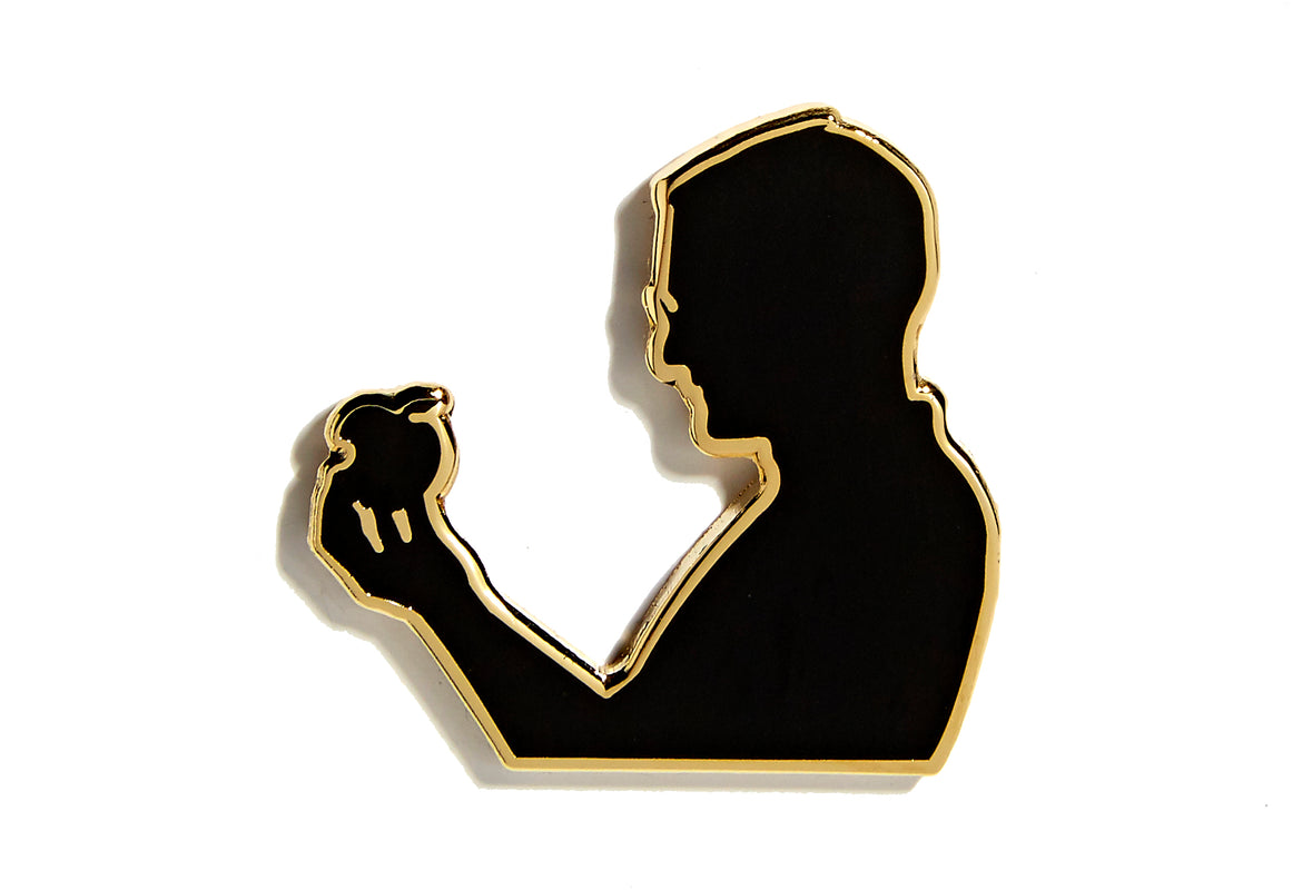Think Silhouette Pin