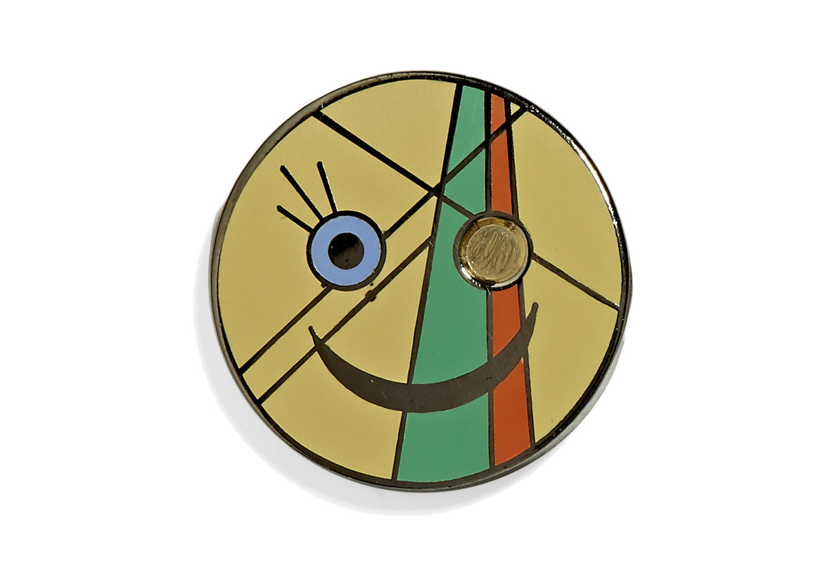 The Point and The Line Smiley Pin