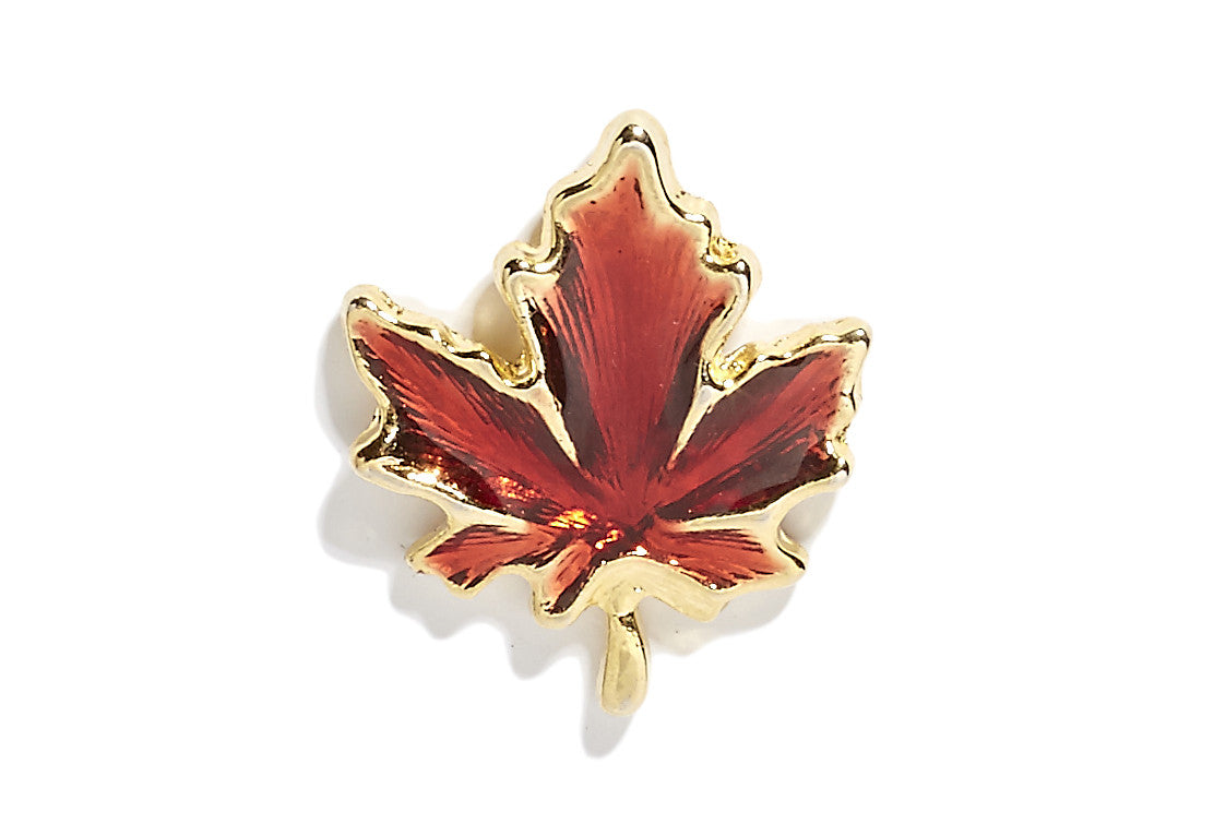Vintage Red Leaf Pin