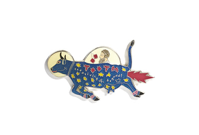 Vintage Blue Cow Pin