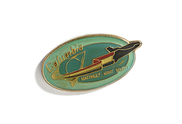 Vintage Columbia Space Pin