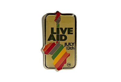 Vintage Live Aid Pin