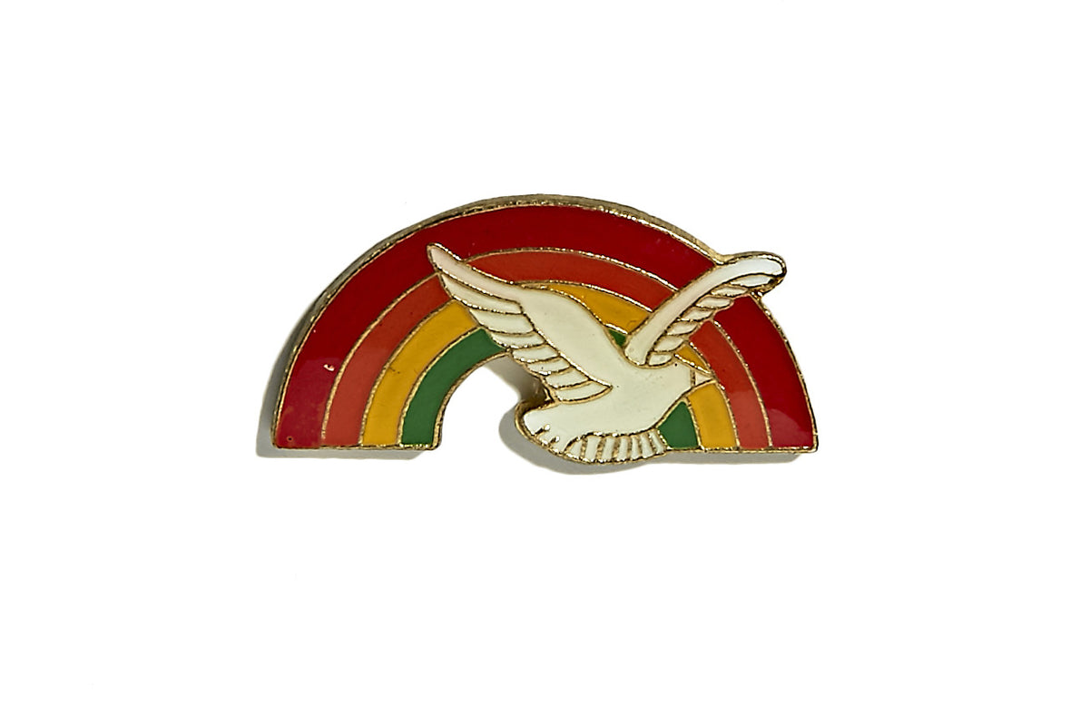 Vintage Rainbow Dove Pin