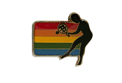 Vintage Rainbow Tennis Pin