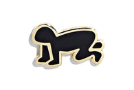 Keith Haring - Radiant Baby Pin - Black and Gold
