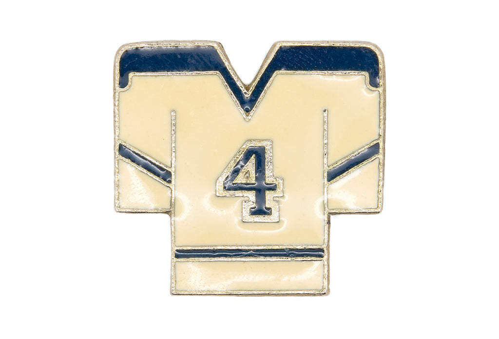 Vintage #4 Hockey Jersey Pin