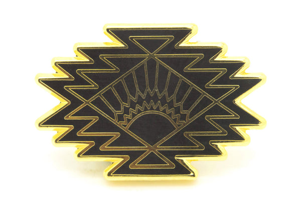 AriZona Sunburst Pin - Black and Gold