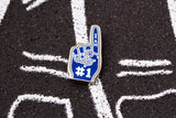 Foam Finger - Blue and Silver