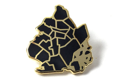 Brooklyn Borough Pin - Black and Gold
