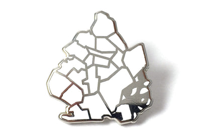 J Frost Brooklyn Borough Pin - White and Silver