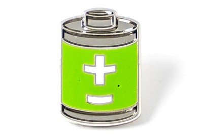 Charged Up Pin - Green