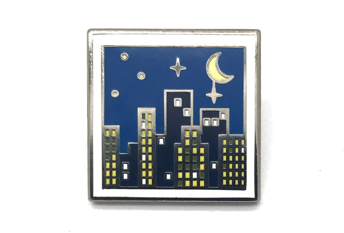City at Night Pin