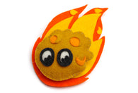 Meteor Plush Pin
