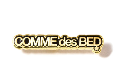 Comme des Bed Pin - Black and Gold
