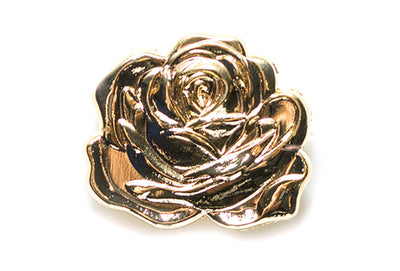Careaux - 3D Dedication Rose Pin - Gold