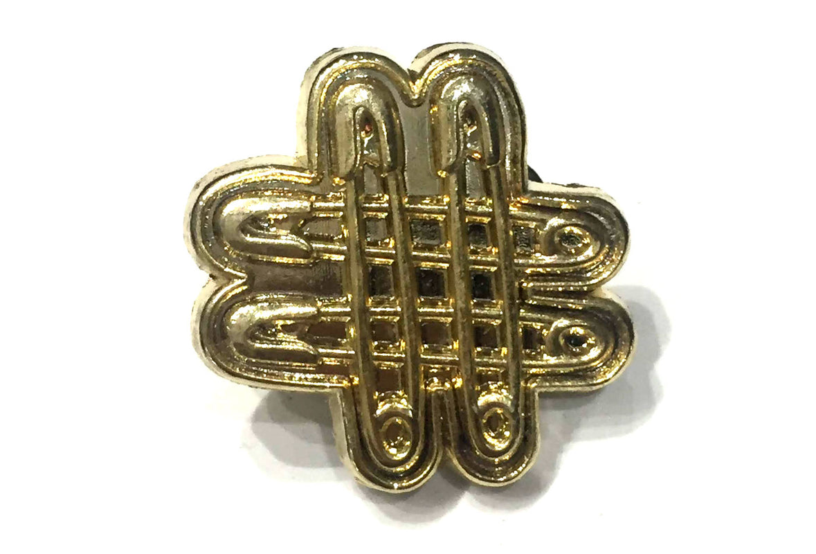 Hashtag Pin - Gold