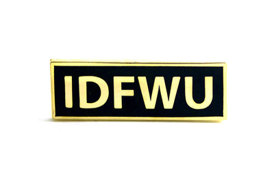IDFWU Pin - Gold on Black