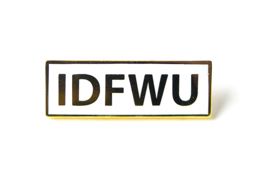 IDFWU Pin - Gold on White