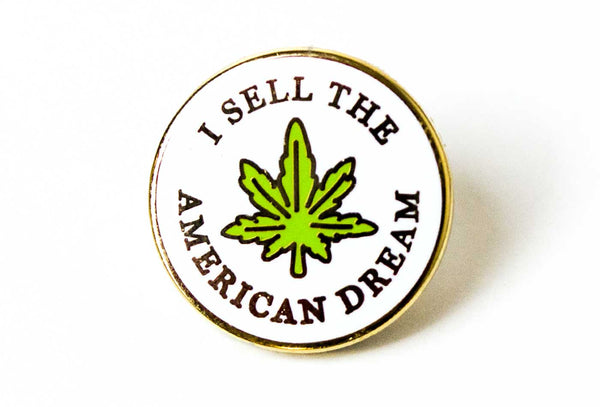I Sell The American Dream Pin
