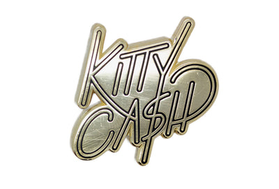 Kitty Cash Text Pin