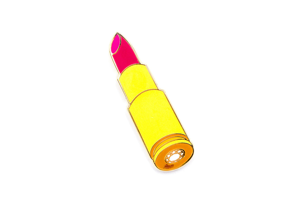 Melissa Lip Clip Pin - Yellow