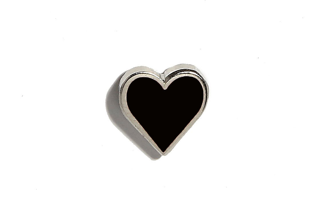 Mini Heart Pin - Black