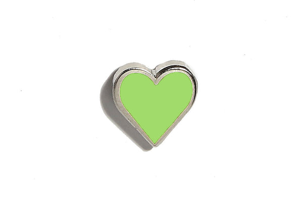 Mini Heart Pin - Light Green