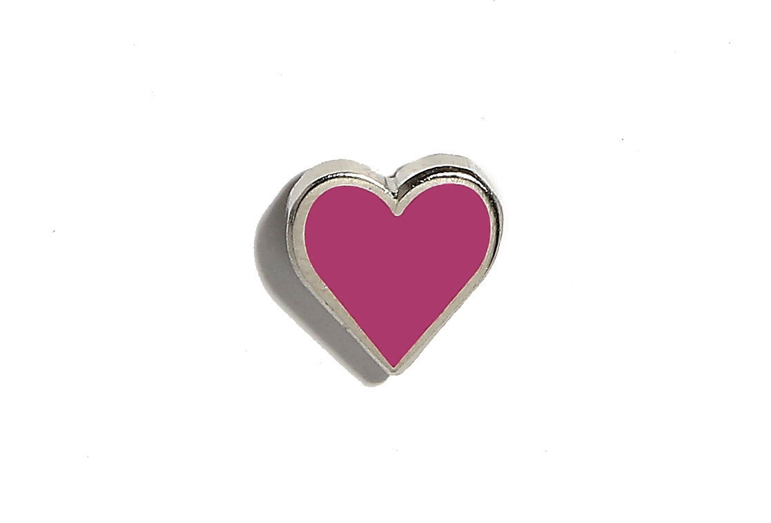 Mini Heart Pin - Magenta