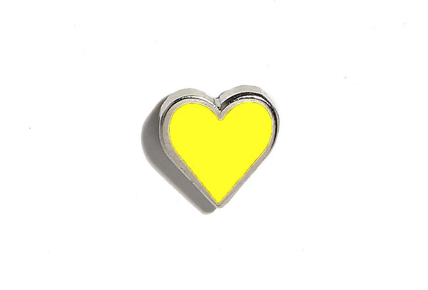 Mini Heart Pin - Yellow