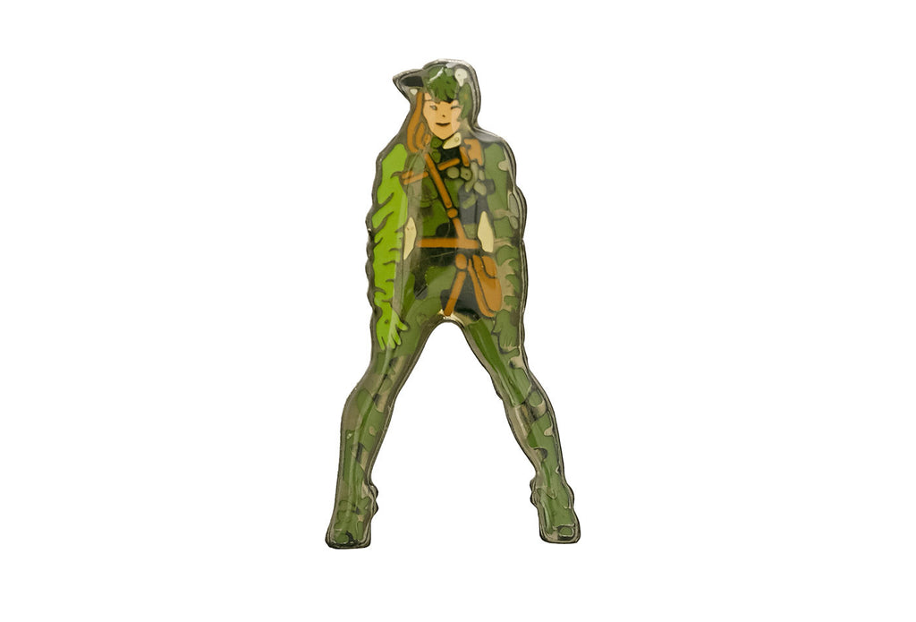 Vintage Army Girl Pin