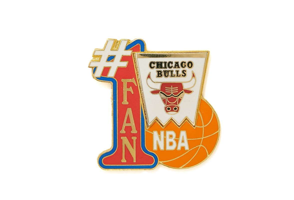 Vintage Number #1 Bulls Fan Pin