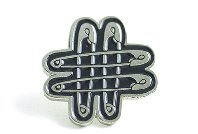 PINTRILL Hashtag Pin - Black and Silver