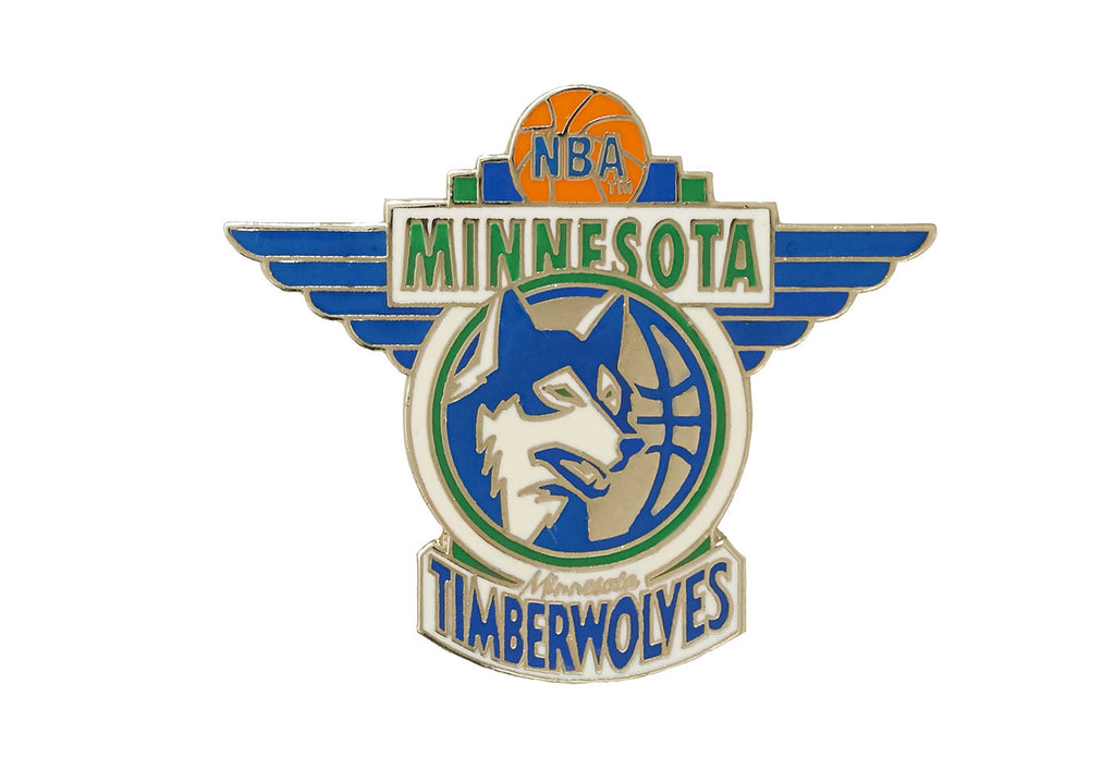 Vintage NBA Timberwolves Pin