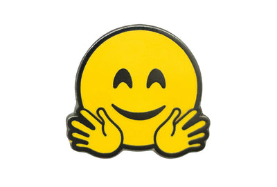 Hugging Smiley Pin