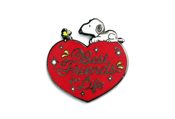 Peanuts - Best Friends For Life Pin