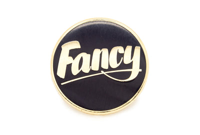 Baron Von Fancy - Fancy Pin - Gold on Black