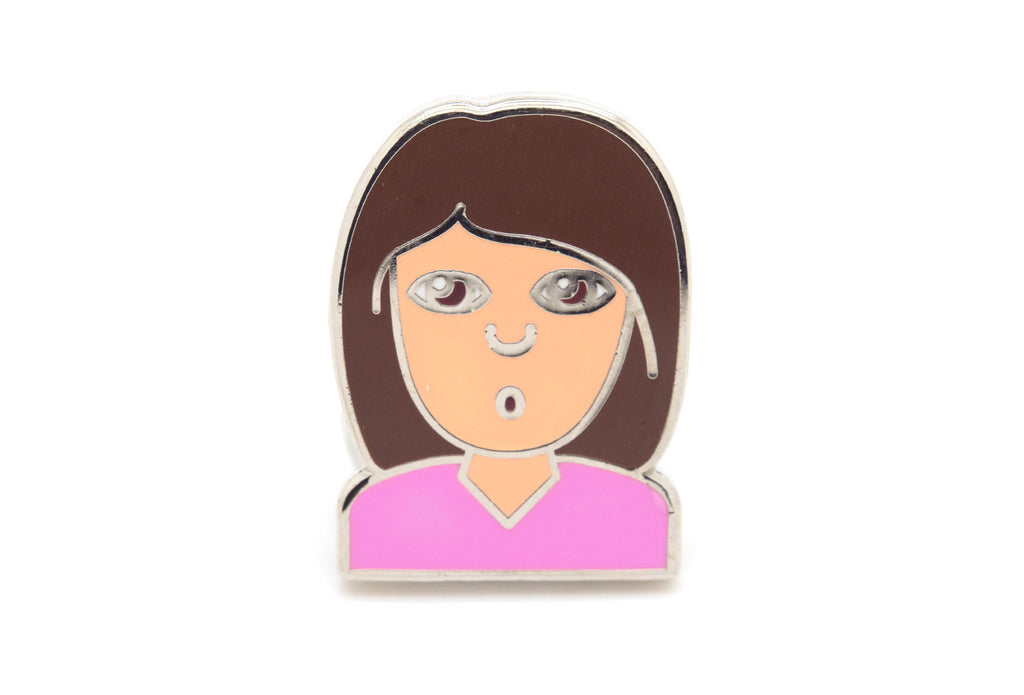 Pouting Girl Pin